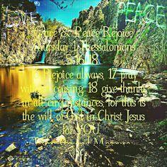 Grace & Peace Rejoice Thursday