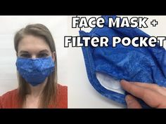 How to Sew a Face Mask with Filter Pocket - Fast and Easy DIY Flu Mask - YouTube
