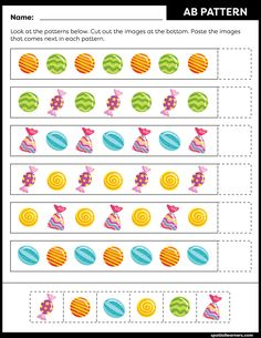 These FREE printable worksheets for kids are great for practicing spatial concepts! These patterns worksheets can be used as homework, bell-ringer activity, warm-up activity, or speech therapy work. Fun activity for your kindergarten or grade 1 students! Science Worksheets, Worksheets For Kids, Activities For Kids, Free Printable Worksheets, Free Printables, Pattern Worksheet, Math Patterns, Speech And Language, Work Fun