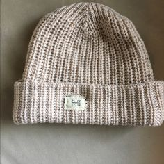 Free people knit hat Brand new!  Oatmeal colored chunky knit Free People Accessories Hats