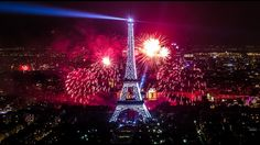 Paris New Year 2017 Fireworks  Full HD Tower Eiffel Amazing Video