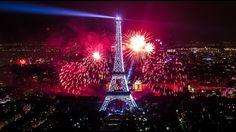 Paris New Year 2017 Fireworks Full HD Tower Eiffel Amazing Video