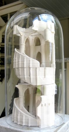 Stacked architecture from 3d printed ceramics.