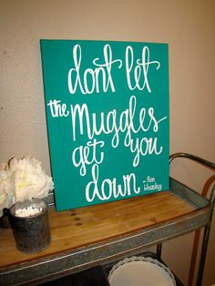 Harry Potter Quote, Muggle Canvas Quote, Harry Potter Canvas Quote, Harry Potter Nursery Decor,  Wizard Christmas Gift, Magic Wall Decor
