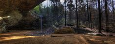 Ash Cave Panorama II by Lost in the Hills, via Flickr