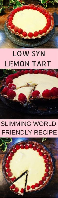 Slimming Low Syn Lemon Tart - SLIMMING WORLD PUDDING! - A delicious filo pastry lemon tart, perfect for the festive season! Slimming World Deserts, Slimming World Puddings, Slimming World Recipes Syn Free, Slimming World Diet, Slimming Eats, Slimming Word, Fodmap, Chocolate Roulade, Healthy Deserts