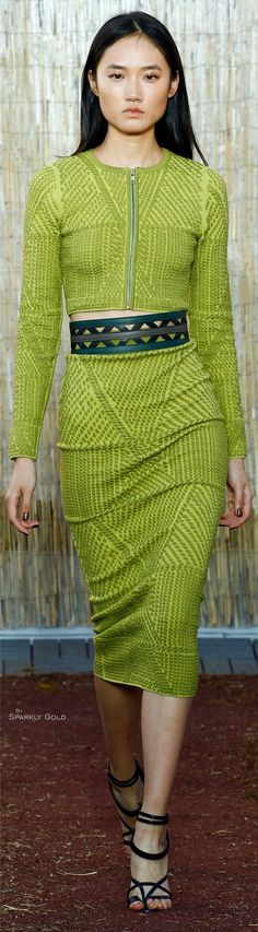 Sophie Theallet 2016 RTW Chartreuse #fashion