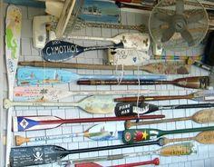 Wall Art Oars | ... Decor | Seashell Decor: Block Island Inspiration -Oars, Anchors
