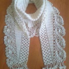 Best 10 Crochet scarf pattern i couldn t find the pattern for thi – Artofit – SkillOfKing. Col Crochet, Crochet Collar, Lace Knitting, Crochet Shawl, Crochet Stitches, Free Crochet, Knitting Patterns, Crochet Patterns, Crochet Scarves
