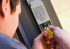 Electric #garagedoor opener: A complete protection from burglars.