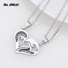 Wholesale Couple Lovers Necklaces & Pendants Stainless Chain men Necklaces I Love U Double Heart Necklace Jewelry(China (Mainland)) Double Heart Necklace, Mens Chain Necklace, Pendant Necklace, Couple Jewelry, Buying Wholesale, Jewelry Necklaces, Pendants, Silver, Stuff To Buy