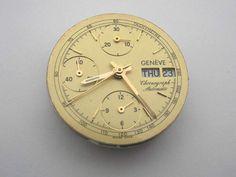 Geneve Chronograph Automatic Uhrwerk **defekt f. bastler** for repair parts--