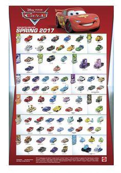 Mattel Disney Pixar CARS: The 2017 CARS 1 & 2 Poster (2016½)   Take Five a Day