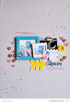 . Baby Scrapbook, Scrapbook Paper, Scrapbook Photos, Paper Tree, Candy Cards, Studio Calico, Smash Book, Scrapbooking Layouts, Project Life