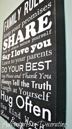 wall art for the kids room! Visual reminder!