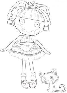 how to draw lalaloopsy step by step | The Best Lalaloopsy Dolls Coloring Pages
