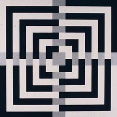 "Composition with Four Black Squares and Four White Squares (1986), acrylic on canvas, 60""x 60"""
