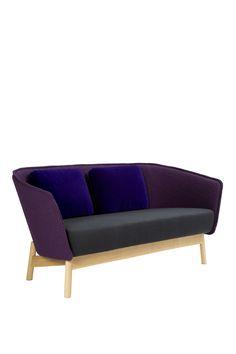 Aura Wood, design Mikko Laakkonen 2 Seater Sofa, Wood Design, Be Perfect, Sofas, Lemon, Cozy, Dining, Orange, Interior