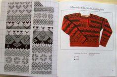 Knitting from Hälsingland Knitting Charts, Hand Knitting, Knitting Patterns, How To Start Knitting, Folk Fashion, Folk Costume, Vintage Sweaters, Fair Isles, Crochet Clothes