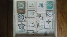 Stampin' Up! ... handmade winter cards ... found on JennysArt blog ... Brussels convention .... swaps ...
