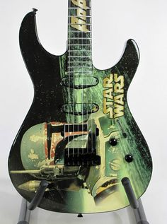 Boba Fett guitar. Where else can you find a Star Wars guitar other than Pinterest. No where.