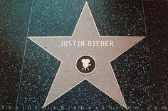 hollywood walk of fame   Justin Bieber