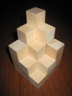 Wooden Soma Cube Puzzle by MonkeyCs on Etsy, $7.50