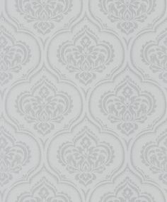 Glitter Damask (40576) - Albany Wallpapers - An all over wallpaper design featuring an elegant glitter damask motif. Shown here in grey with silver glitter detailing. Other colourways are available. Please request a sample for a true colour match.