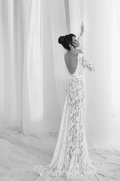 Julie vino summer 2012 collection- lace backless - stunning