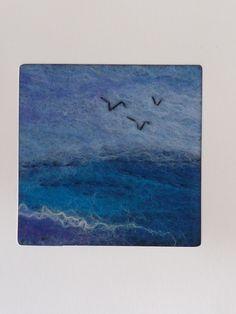 Ocean Waves Greetings Card by Deborah Iden.  See more work by LittleDeb on Facebook, Folksy and Etsy.