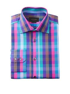 Colorful, would go well with khaki, also could use a variety of ties with it