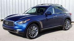 Infiniti's new is a good-looking car, and includes a lot of tech, from advanced driver assistance systems to navigation to a good quantity of audio sources. Fuel economy is mediocre. Infiniti Fx35, Nissan Infiniti, Advanced Driver Assistance Systems, Toyota 2000gt, Good Looking Cars, Fuel Economy, Range Rover, Aston Martin, Bugatti