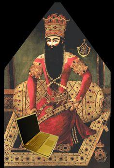 Fath Ali Shah Qajar painting fun (Fath Ali Shah, paintings attributed to Mirza Baba) Fath Ali Shah Qajar AD) Iran, Beautiful Things, Ali, Mona Lisa, Two By Two, Paintings, History, Artwork, Historia
