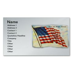 Stars and Stripes Forever, 4th of July Business Card Template