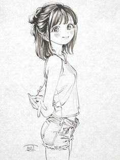 Anime Girl Drawings, Anime Art Girl, Manga Art, Manga Anime, Art Drawings, Masakazu Katsura, Angel Manga, I Love You Drawings, Concept Art Tutorial