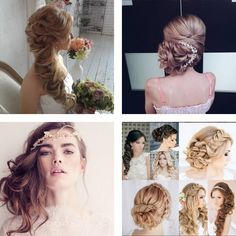 Wedding Hairstyles 2019 - If you are one of those lucky ones, who set the wedding date for the year then you must be already looking for the perfect wedding image, choose. Classic Hairstyles, Best Wedding Hairstyles, Hairstyles With Bangs, Trendy Hairstyles, Hair Styles 2016, Curly Hair Styles, Braids With Curls, Glam Hair, Hairstyle Look