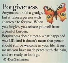 Yes! When you learn to forgive someone for the apology you'll never get, you can release the pain and move forward.