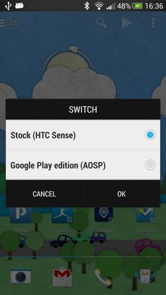 For the HTC One is working on a 1-click-switch between HTC Sense and the Android version of Google Play Edition, but the 1-click-switch for the HTC One is not finished yet