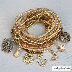 Learn to make your own Endless Summer Bracelets with Bead Gallery beads #MadeWithMichaels