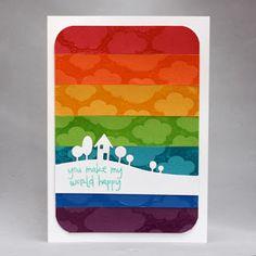 Landscape with HA Clouds BG on rainbow CS strips
