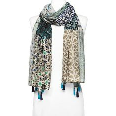 Merona® Patchwork Detail Scarf - Blue