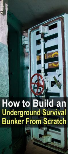 How To Build An Underground Survival Bunker From Scratch This article explains everything you need to know about building an underground survival bunker, from finding land to generating power for it. Urban Survival, Homestead Survival, Wilderness Survival, Camping Survival, Outdoor Survival, Survival Knife, Survival Prepping, Survival Gear, Survival Skills