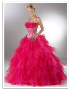 This is so super puffy and pink! So much fun! I swear if I had this I'd wear it ever day and play helpless princess. haha