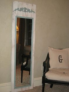DIY Full Length Mirror ~ Cheap!