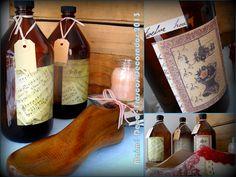 Frascos de Vainilla Reciclados de 1 Litro. Vinilos Decorativos de Arte Manos y de Láminas Decoupage, Etiquetas de cartón y Cinta Bebé!