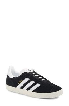 Free shipping and returns on adidas Gazelle Sneaker (Women) at Nordstrom.com. From its 1968 roots as an indoor soccer trainer to its 1991 debut as a street sneaker, the Gazelle has enjoyed enduring popularity for decades. This reissue is a faithful reproduction of the 1991 model, complete with the materials, colors and proportions that made it an instant icon.