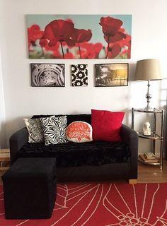 Stephanie's Bold Mix Decor, Studio Living, Living Room Designs, Tiny Apartments, Transitional Kitchen Design, Home Decor, Stylish Interior Design, Cool Apartments, Small Apartment Living