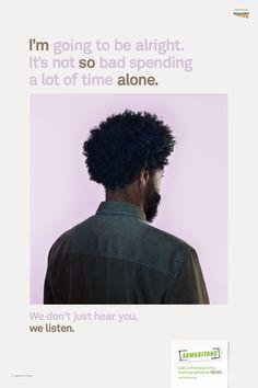MullenLowe's We Listen campaign for the Samaritans, shot by Nadav Kander