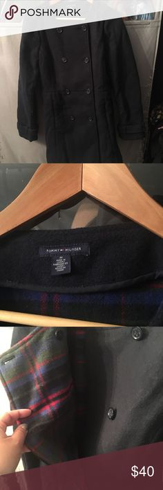 Tommy Hilfiger peacoat Another downsizing! This is NWT and found it amongst my closet. I upsized so it doesn't fit me...make it a nice gift or a Treasure for yourself! Tommy Hilfiger Jackets & Coats Pea Coats