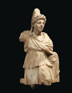 Statue de Mithra tauroctone. Roman marble statue of the young god Mithras. 2nd century A.D. 20,86 in. high.